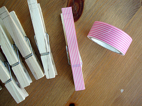 Clothespins & Washi Tape