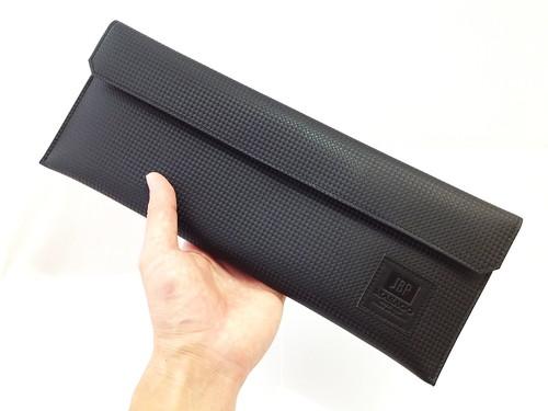 JBP × Masago カーボン調型押し本革ツールバッグ(Wide)