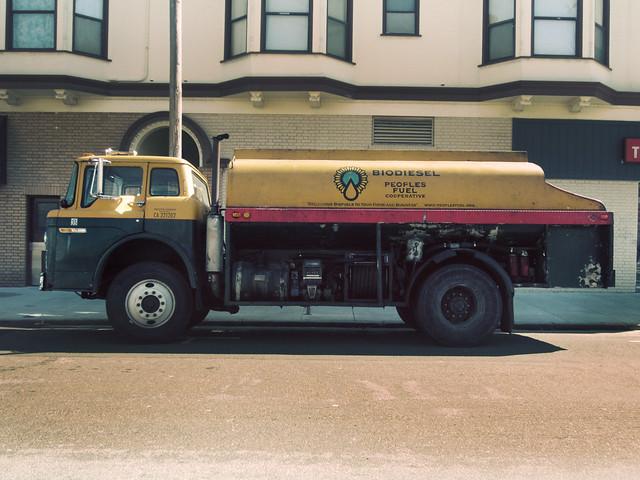 Biodiesel truck; The Richmond, San Francisco (2012)