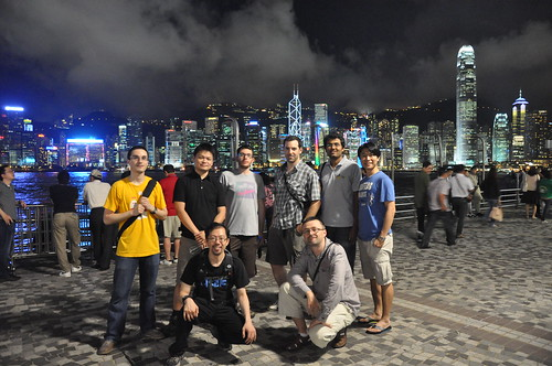 Some Speakers visiting Tsim Sha Tsui before GNOME.Asia 2012, Hong Kong
