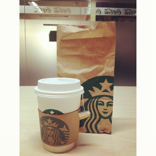 Friday morning blessing: Free Starbucks drink of my choice (Tall, extra hot, non-fat chamomile blend tea latte