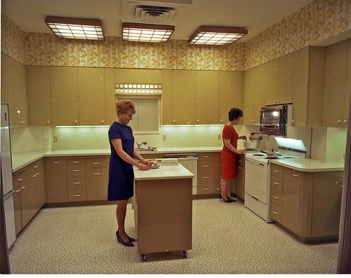 Home economists in kitchen, 1968