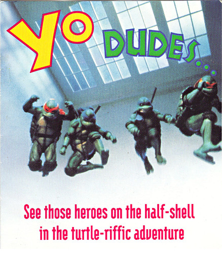 "TEENAGE MUTANT NINJA TURTLES II : THE SECRET OF THE OOZE :: ""YO DUDES ..."" ; TMNT II Video Offer form i  (( 1993 ))"