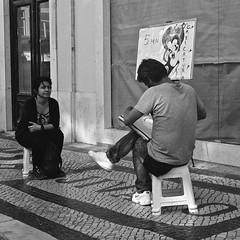 Street caricaturist