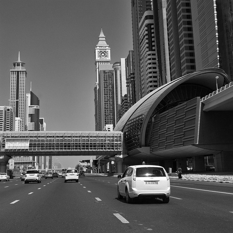 Sheikh Zayed road at Al Yaqoub Tower