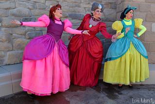 Anastasia, Drizella, and Lady Tremaine