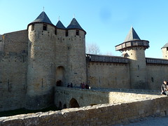 castle, building, monastery, middle ages, fortification, moat,