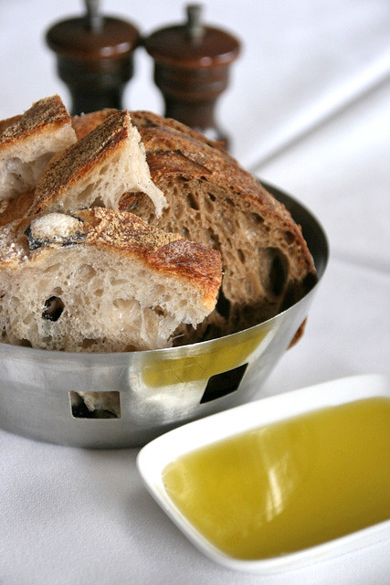 Wonderful rustic breads with top notch olive oil