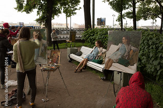 Art Students and Model. St Petersburg