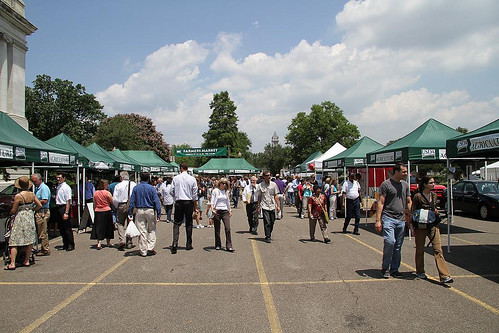 USDA Farmers Market on a sunny day in June