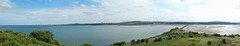 Edinburgh and the Pentlands from Cramond Island