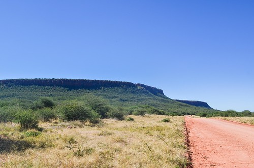 The D2512 below the Waterberg Plateau, Namibia