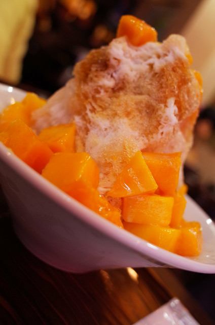 Apple mango shaved ice