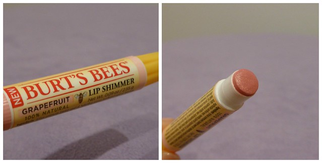Burt's Bees NEW 100% Natural Hydrating Lip Balm Coconut & Pear Shimmers Grapefruit  Apricot australian beauty review ausbeautyreview blog blogger honest swatch pretty beautiful drugstore cosmetics healthy priceline 1