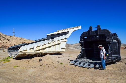 Pelle minière, mine d'uranium de Rössing, Namibie