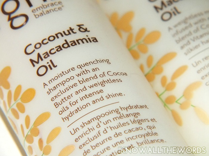 la coupe orgnx coconut & macadamia oil shampoo and conditioner