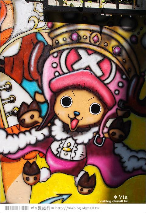 【台中海賊王彩繪】台中新遊點!小巷裡出現海賊王彩繪牆~ONE PIECE迷必訪!17