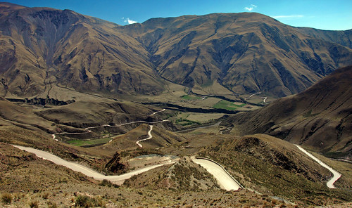 NW Argentina, twisting road through the high Puna
