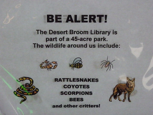 Wildlife alert -  Desert Broom Library