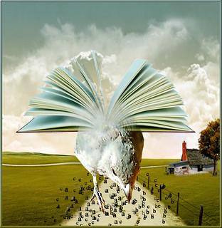 The flight of knowledge / animal surrealista series