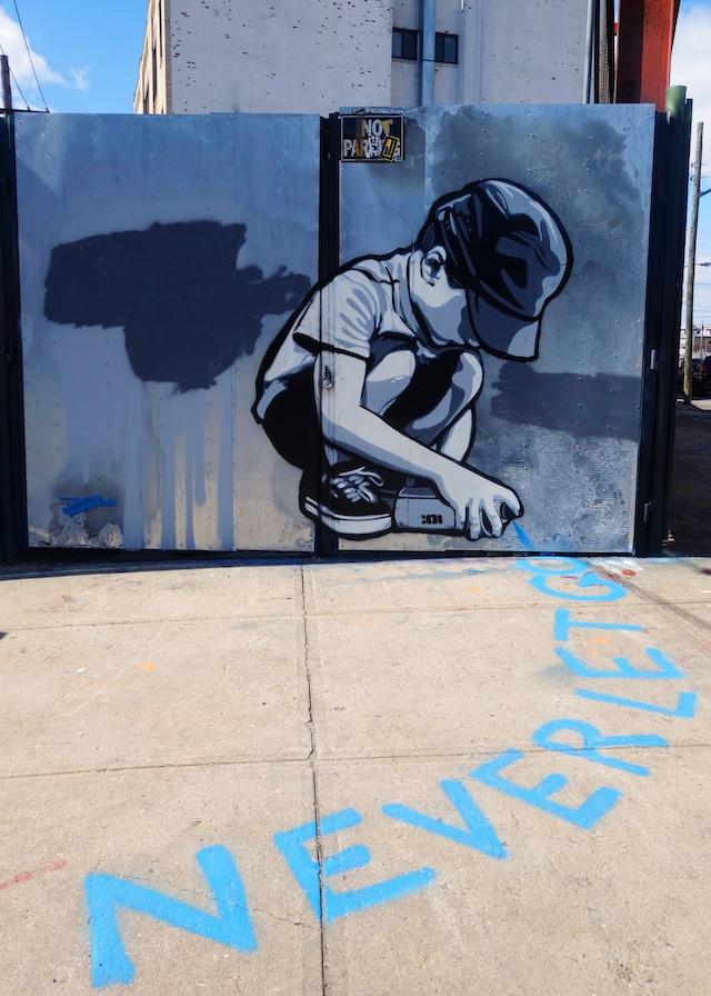 Brooklyn street art The Bushwick Collective Never Let Go
