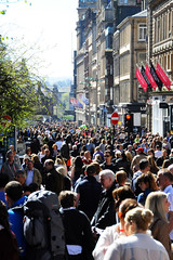 Shoppers in Glasgow's Buchanan Street....