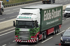 Scania R440 6x2 Tractor with 3 Axle Curtainside Trailer - PE12 LWP - Olivia Faye - Eddie Stobart - M1 J10 Luton - Steven Gray - IMG_3879
