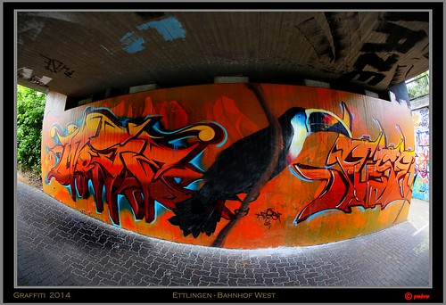 Graffiti  2014 - Ettlingen - Bahnhof West  by Fuse and Mose