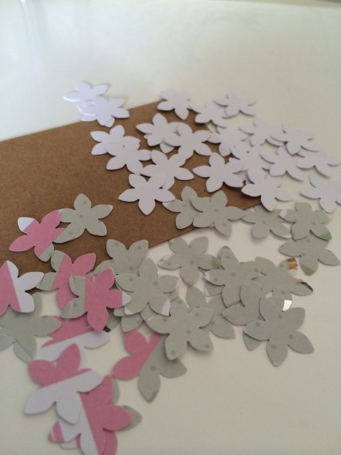 thrifty crafting - punched flowers