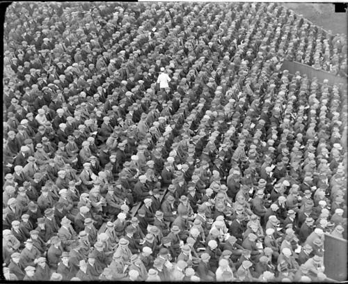 Big baseball crowd at Fenway Park