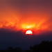 Las Conchas Fire Sunset, June 27, 2011. by dangerousmeta