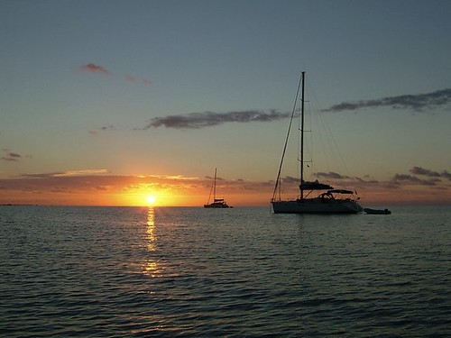 seascape sunrise landscape sailing bvi