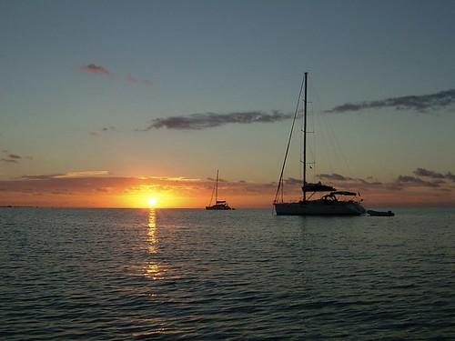 seascape sunrise landscape sailing bvi