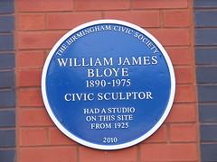 Photo of William Bloye blue plaque
