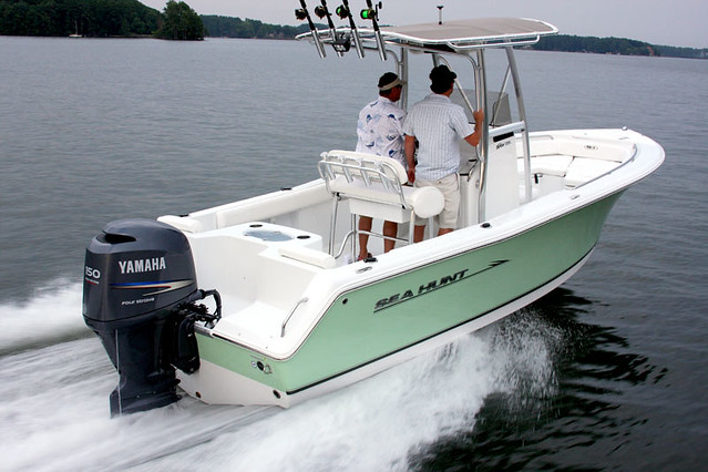 Sea Hunt Triton 225. Great fishing boat for the family.