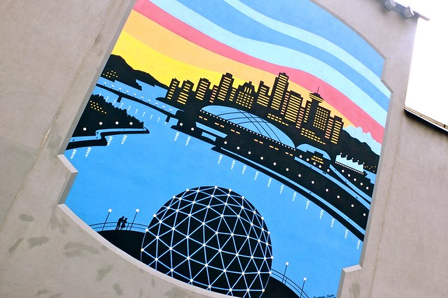 Science World Parking Lot Mural | East Vancouver, BC
