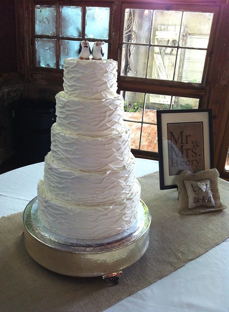 Rustic Wedding Cake The cake and the venue really complemented each other