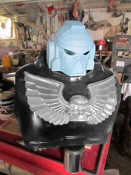 SM MkVII Helmet Pepakura Test Fit