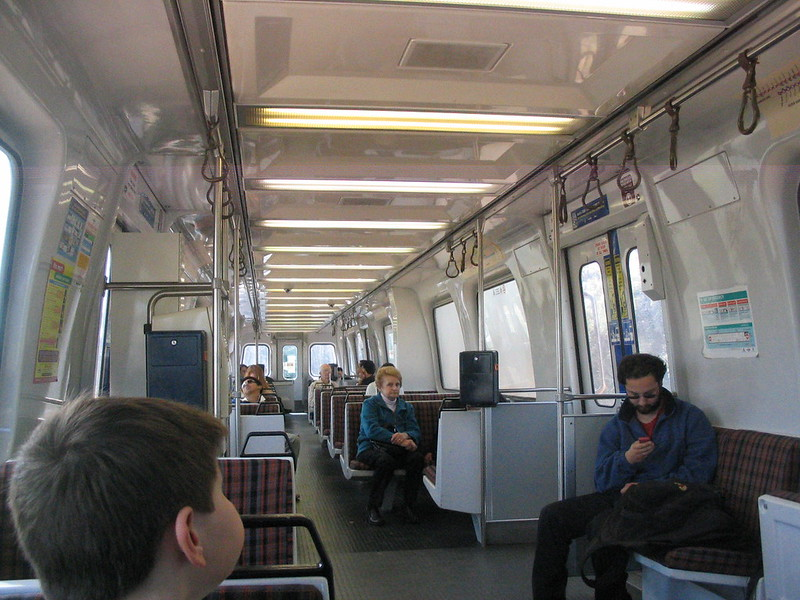 Adelaide diesel Comeng train interior (2007)