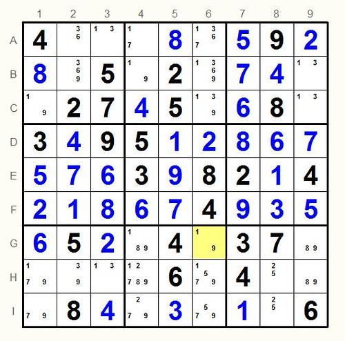 Unsolved sudoku 2