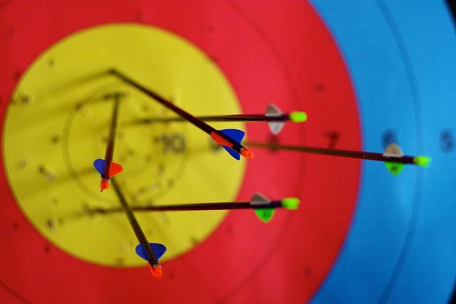 91/366: Arrows in target