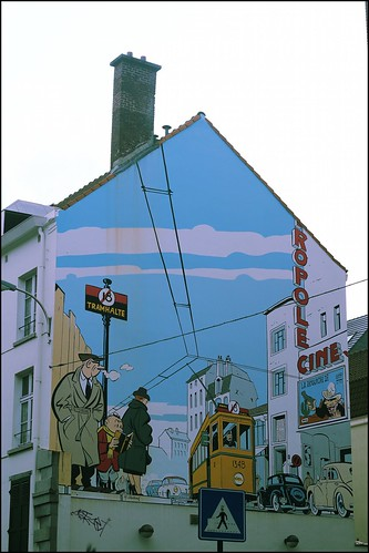 cartoon mural