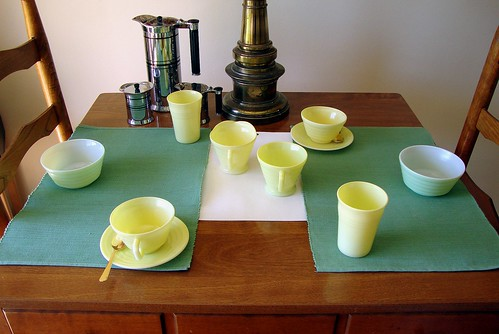 Table set for breakfast 13, 8779b 5x7