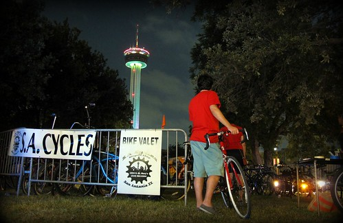 Bike Valet at Luminaria 2012 - San Antonio, Texas