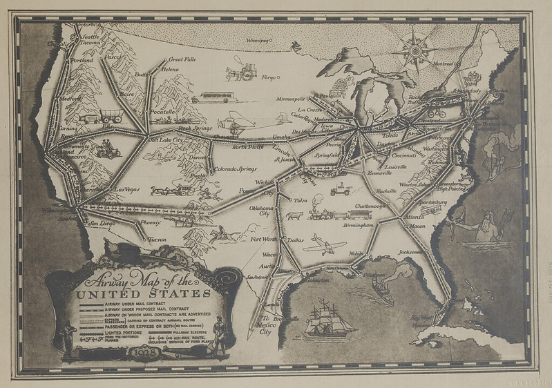 Historical Aeronautical Navigation Maps At MAGIC Outside The Neatline - Vintage aviation maps