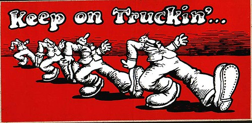 Keep on Truckin by Robert Crumb