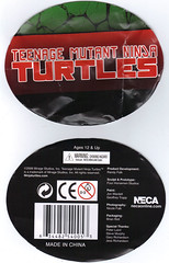 "NECA TEENAGE MUTANT NINJA TURTLES :: ""LEONARDO""  Tube Pack top / bottom (( 2008 ))"