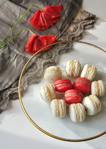 Poppy Seed Macarons