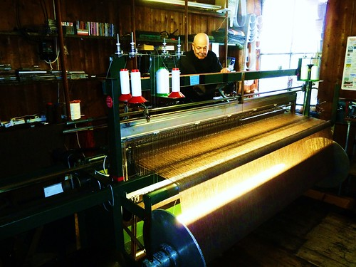 Harris Tweed Weaver, Tarbert, Harris, Scotland