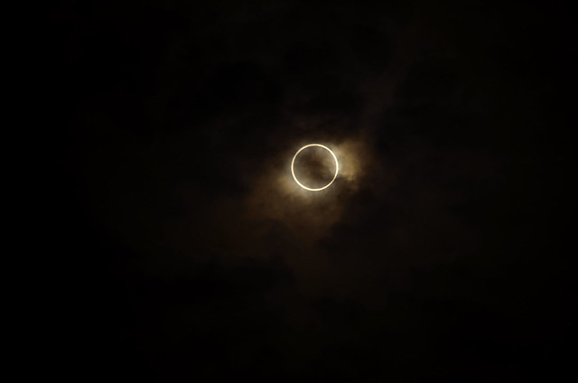 Gold ring solar eclipse in Tokyo